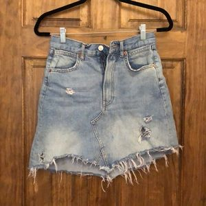 Zara high waisted jean skirt. Size small.